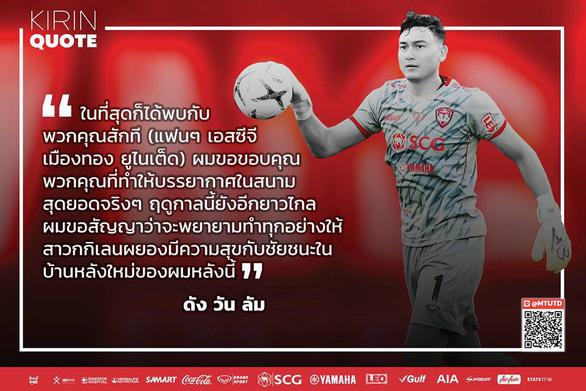 Đặng Văn Lâm hứa sẽ giúp Muangthong United vô địch - Ảnh 1.