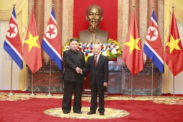 Lãnh đạo Triều Tiên Kim Jong Un chúc mừng Tổng bí thư, Chủ tịch nước Nguyễn Phú Trọng - Ảnh 1.