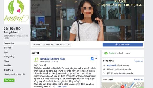 Phạt chủ trang facebook đầm bầu 20 triệu vì đưa tin xạo về dịch tả heo - Ảnh 1.