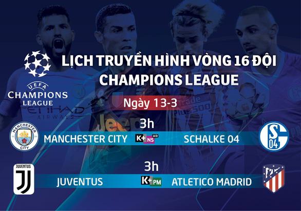 Lịch trực tiếp Champions League 13-3: Trận đấu sống còn của Ronaldo và Juventus - Ảnh 1.