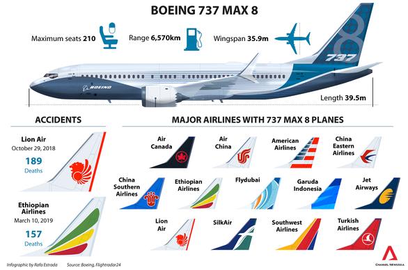 Singapore tạm ngừng hoạt động của mọi máy bay Boeing 737 MAX - Ảnh 2.