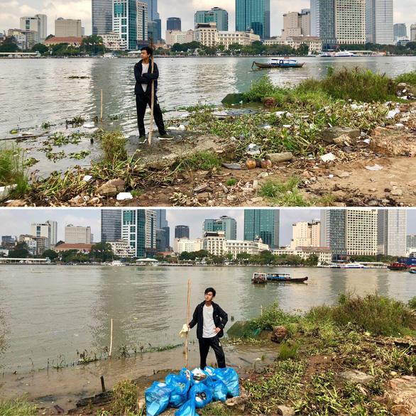 Bạn trẻ Việt đua trào lưu dọn rác khoe phây - Ảnh 1.