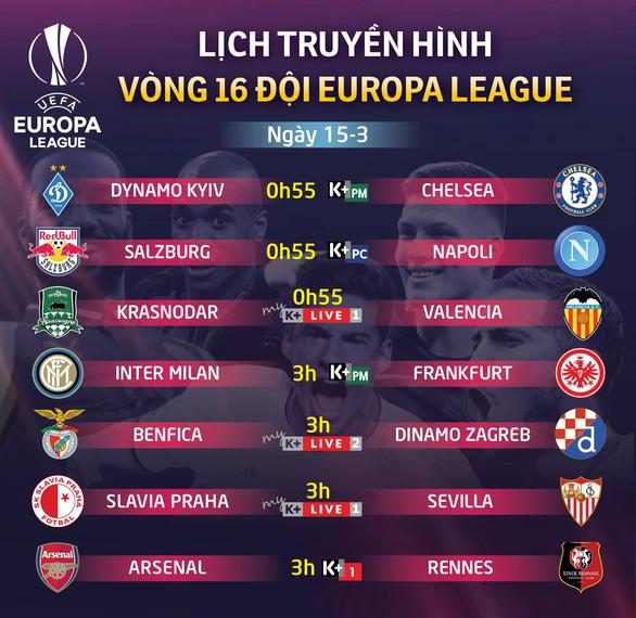 Lịch trực tiếp Europa League 15-3: Chờ Arsenal ngược dòng trước Rennes - Ảnh 1.