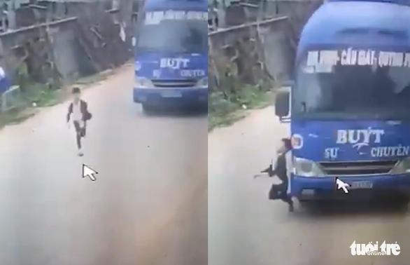 Tài xế bẻ lái tránh cái chết cho bé trai 6 tuổi băng ngang đường - Ảnh 2.