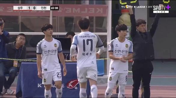 Công Phượng đói bóng trong 27 phút góp mặt ở trận Incheon thua Sangju 0-2 - Ảnh 1.