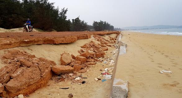 Kè biển Tam Quan 80 tỉ đồng đổ sập: chỉ xin rút kinh nghiệm - Ảnh 1.