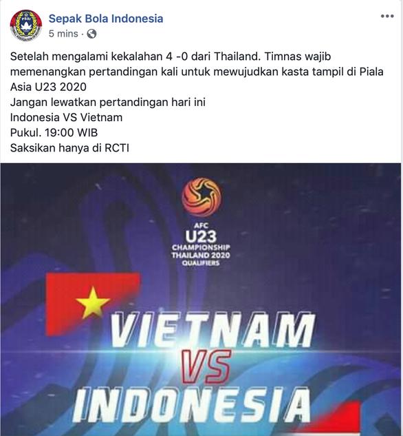 CĐV Indonesia tin đội nhà sẽ đánh bại U-23 Việt Nam - Ảnh 2.