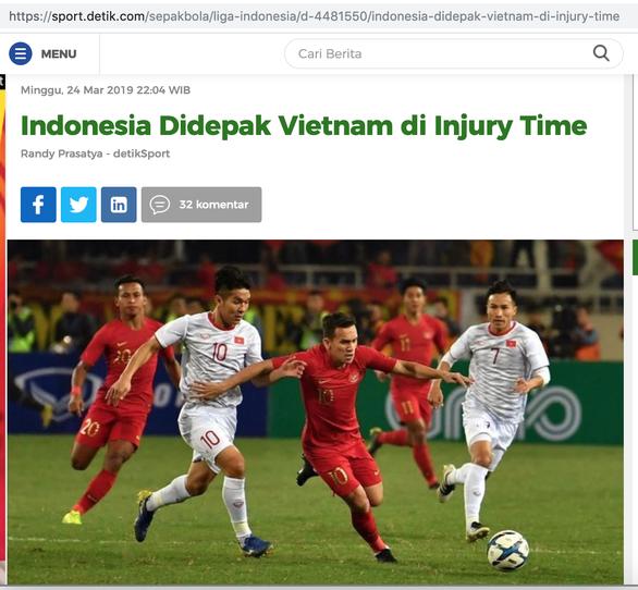 Báo Indonesia: U23 Indonesia đã yếu thế ngay từ hiệp một - Ảnh 1.