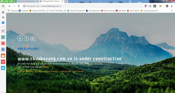 Tạm dừng hoạt động website của chùa Ba Vàng - Ảnh 1.