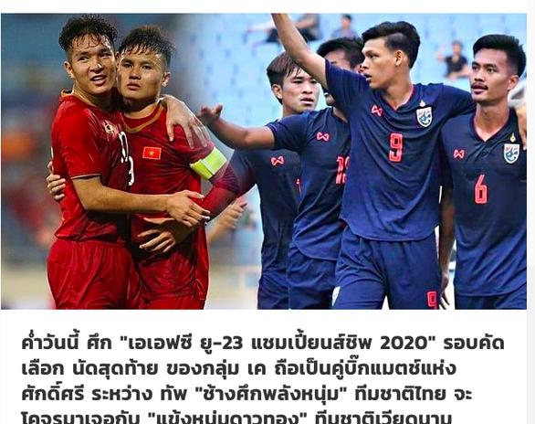 Truyền thông Thái: U23 Thái Lan mạnh hơn U23 Việt Nam - Ảnh 1.