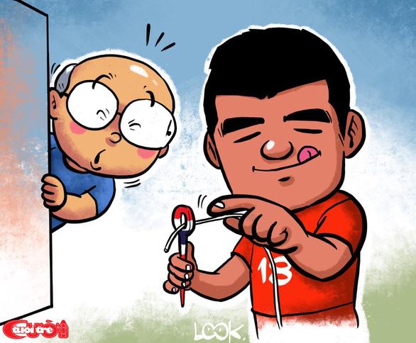 Biếm họa Hà Đức Chinh và chiến thắng trước U23 Thái Lan - Ảnh 1.