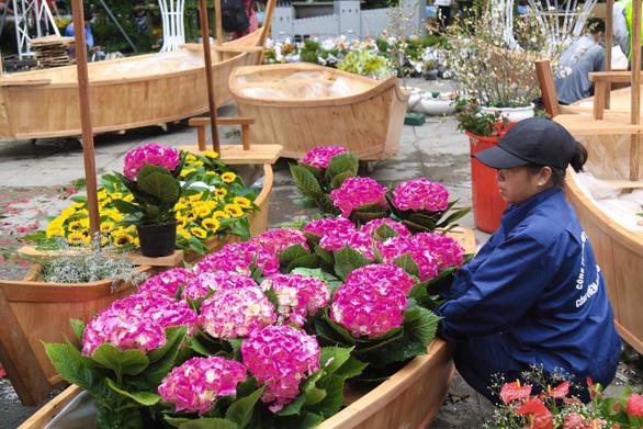 20.000 cành hoa anh đào khoe sắc tại vườn hoa Lý Thái Tổ - Ảnh 7.