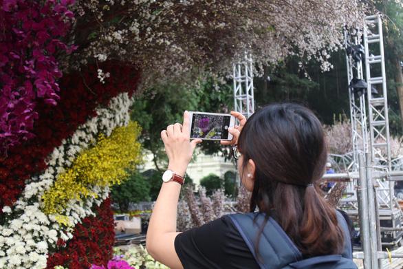 20.000 cành hoa anh đào khoe sắc tại vườn hoa Lý Thái Tổ - Ảnh 12.