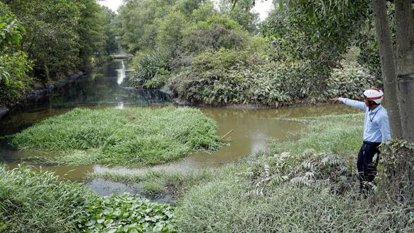 Nước đen bốc mùi, kênh rạch ô nhiễm đổ về Bình Chánh - Ảnh 1.
