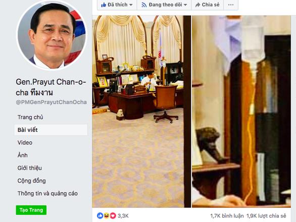 Thủ tướng Thái Lan vừa truyền nước biển vừa làm việc - Ảnh 1.