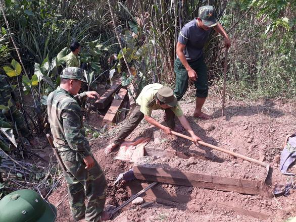 Chôn cả trăm phách gỗ mun dưới hầm để giấu - Ảnh 1.