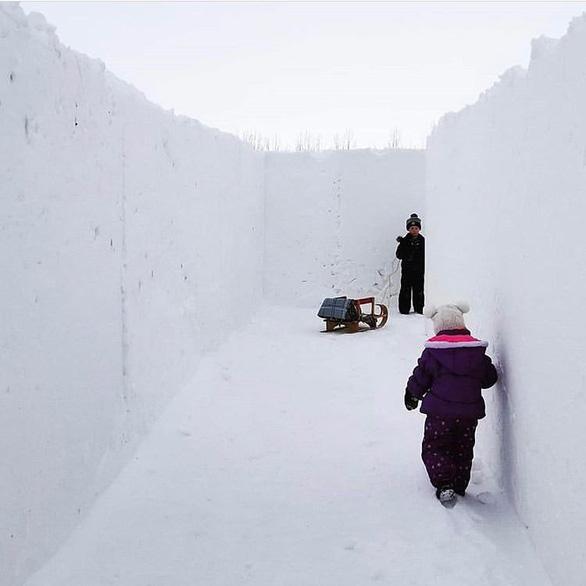 Một nông dân Canada xây mê cung tuyết lớn nhất thế giới - Ảnh 2.