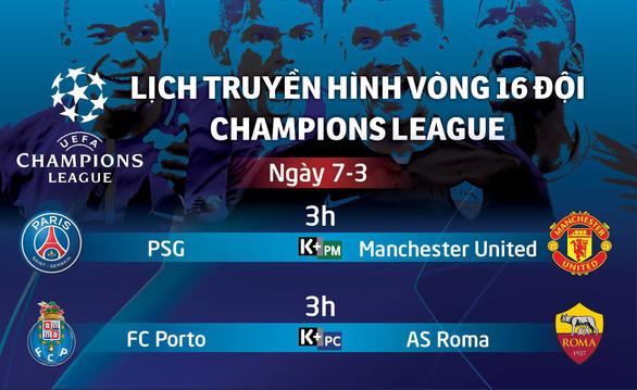 Lịch trực tiếp Champions League: M.U đối diện tử thần ở Paris - Ảnh 1.