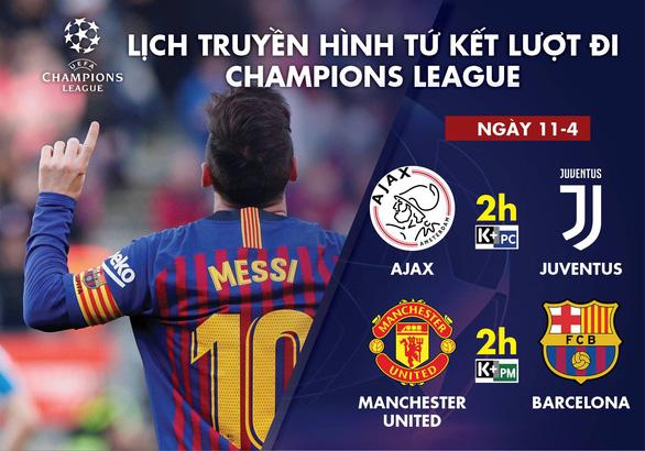 Xem trực tiếp MU- Barca và Ajax gặp Juventus ở đâu? - Ảnh 1.