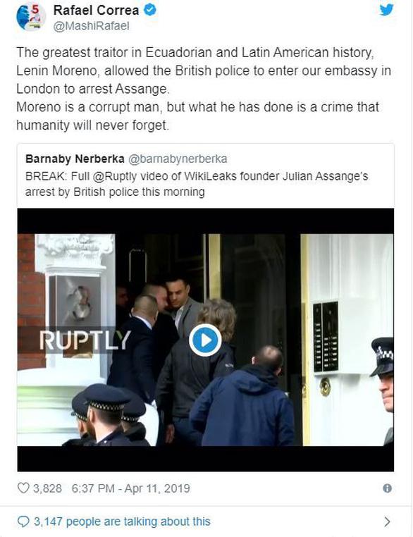 Vụ Wikileaks: Cảnh sát Anh nói bắt Julian Assange vì Mỹ - Ảnh 2.