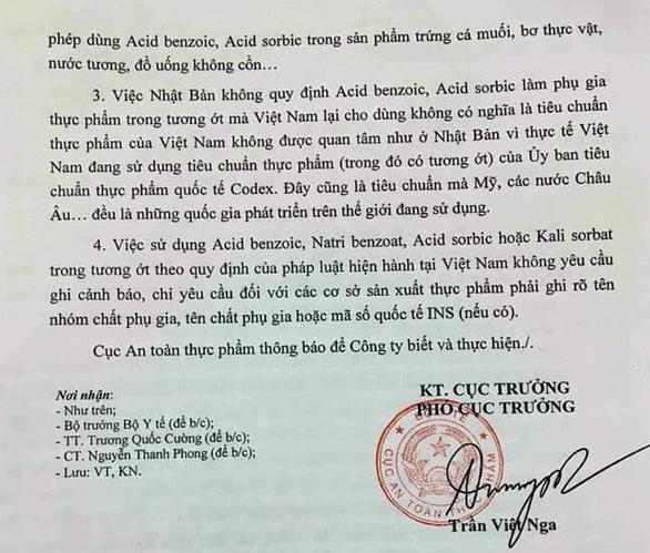 Cục An toàn thực phẩm nói gì việc Việt Nam cho dùng axit benzoic trong tương ớt? - Ảnh 3.
