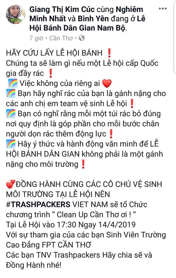 Từ TP.HCM đến lễ hội ở Cần Thơ để... dọn rác - Ảnh 2.