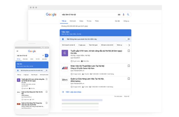 Google thêm chức năng tìm việc làm cho người dùng Việt Nam - Ảnh 1.