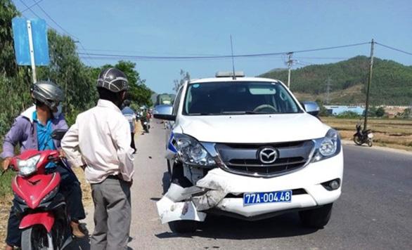 Xe cảnh sát giao thông va chạm xe máy, 1 người tử vong - Ảnh 1.