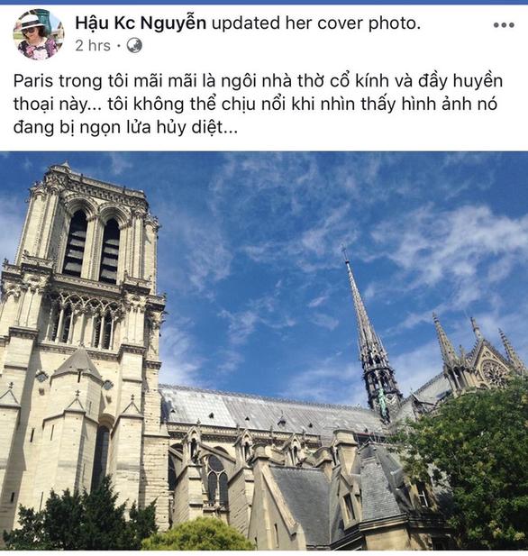 Nhà thờ Đức Bà Paris bốc cháy, người Việt bàng hoàng chia sẻ kỷ niệm - Ảnh 2.