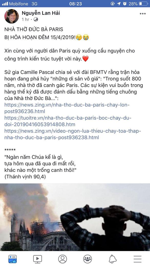 Nhà thờ Đức Bà Paris bốc cháy, người Việt bàng hoàng chia sẻ kỷ niệm - Ảnh 4.