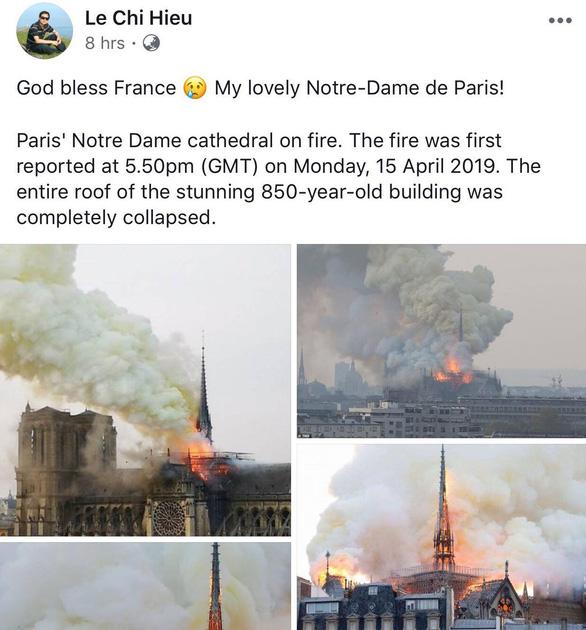 Nhà thờ Đức Bà Paris bốc cháy, người Việt bàng hoàng chia sẻ kỷ niệm - Ảnh 12.