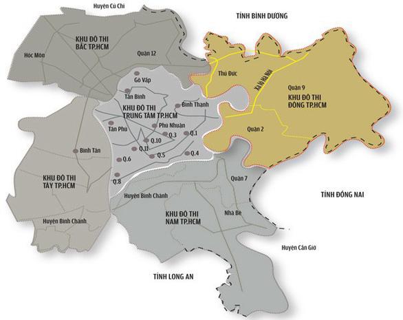 TP.HCM thi tuyển ý tưởng quy hoạch khu đô thị sáng tạo phía đông - Ảnh 1.