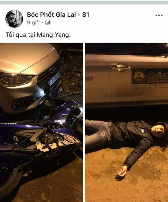 Giả vờ tai nạn giao thông, chụp ảnh đăng Facebook câu like - Ảnh 2.