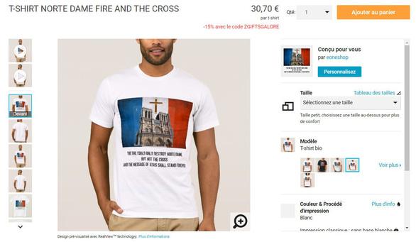 Nở rộ các sản phẩm ăn theo vụ hỏa hoạn tại nhà thờ Đức Bà Paris - Ảnh 5.