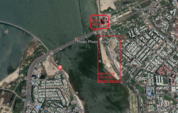 Dự án lấn sông Hàn đe dọa cầu Thuận Phước? - Ảnh 1.
