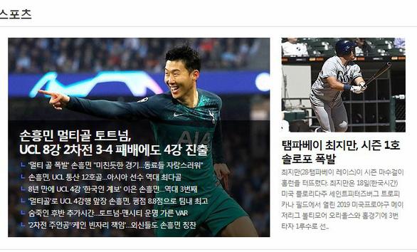 Báo Hàn tự hào vì Son Heung Min làm nên lịch sử - Ảnh 1.