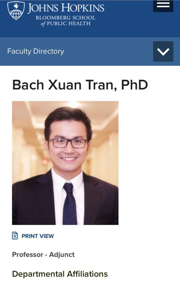 Phó giáo sư Trần Xuân Bách được bổ nhiệm giáo sư tại Đại học Johns Hopkins - Ảnh 3.