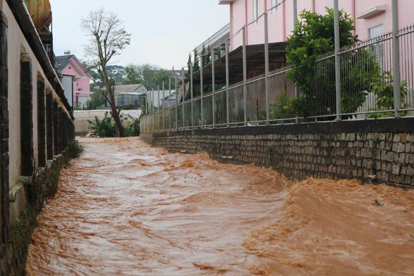 Chiều 20-4, Đà Lạt mưa lớn kèm mưa đá, nhiều nơi ngập nặng - Ảnh 1.