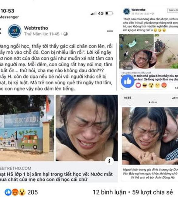 Hình ảnh thân nhân khóc liệt sĩ bị xúc phạm, trang Facebook nói 48 tiếng mới gỡ! - Ảnh 3.