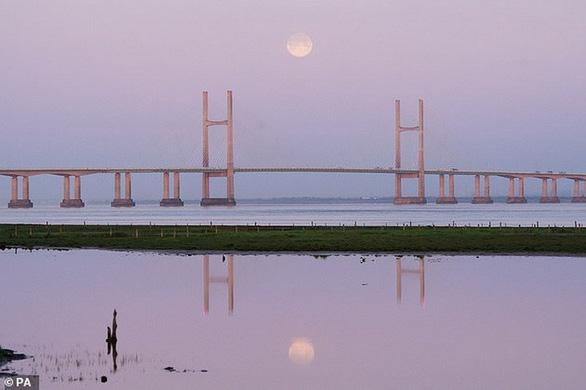 Ngắm trăng hồng đẹp lung linh trên trời đêm - Ảnh 6.