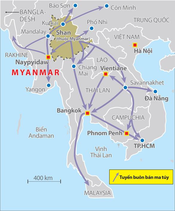 Ma túy đá từ Tam giác vàng - Kỳ cuối: Việt Nam trong cơn lốc ma túy đá ở Đông Nam Á - Ảnh 4.