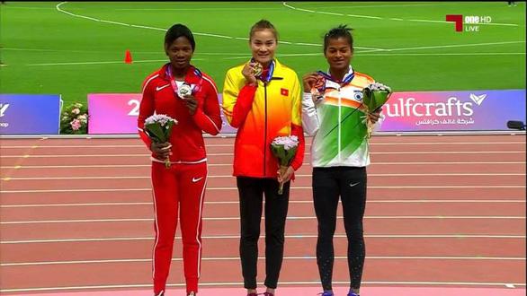 Quách Thị Lan giành huy chương vàng 400m rào Giải điền kinh vô địch châu Á - Ảnh 1.