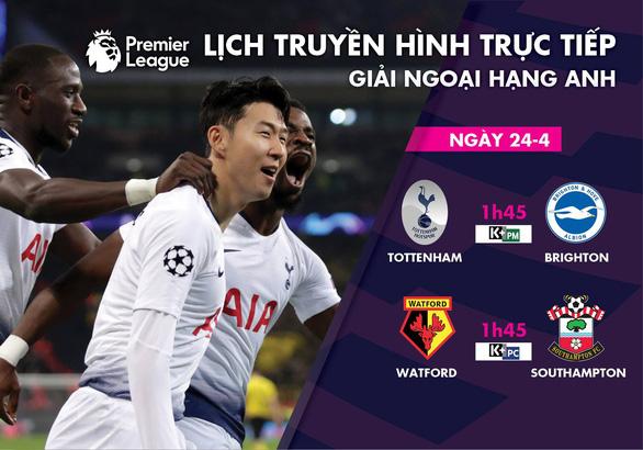 Lịch trực tiếp bóng đá 24-4: Chờ Son Heung Min nổ súng - Ảnh 1.