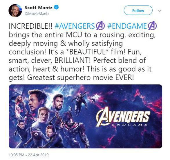 Giới phê bình ngây ngất sau khi xem Avengers: Endgame - Ảnh 3.