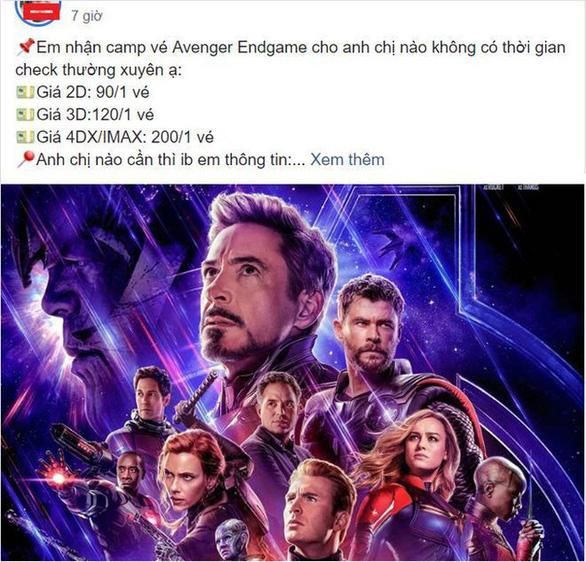 Avengers: Endgame - Phe vé đội giá trên trời làm người xem bức xúc - Ảnh 4.