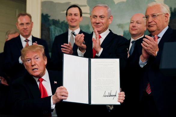 Đặt tên Donald Trump cho khu định cư Do Thái trên cao nguyên Golan - Ảnh 2.