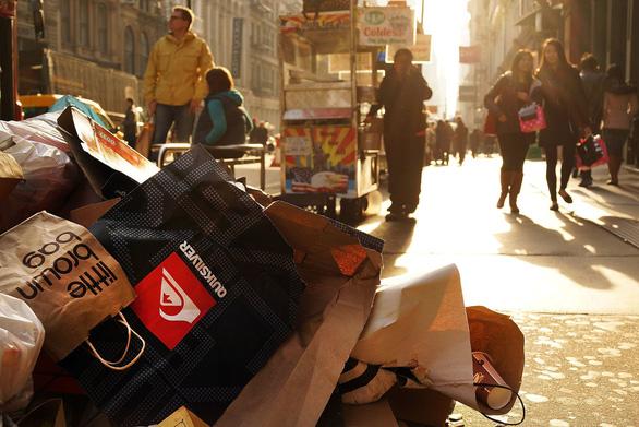 Sau lệnh cấm túi nilông, New York chuẩn bị đánh thuế túi giấy - Ảnh 1.