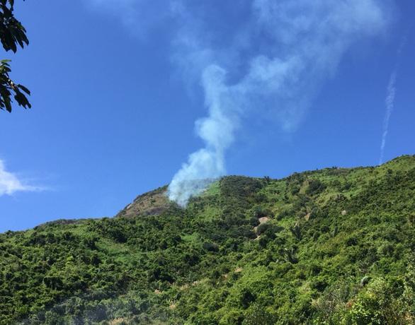 Cháy 6ha rừng đặc dụng đèo Cả - Ảnh 1.