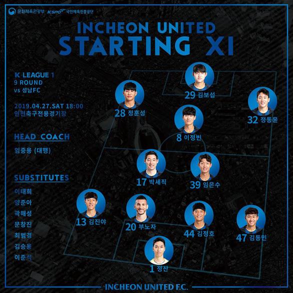 Công Phượng không được Incheon United đăng ký thi đấu ở trận gặp Seongnam - Ảnh 1.