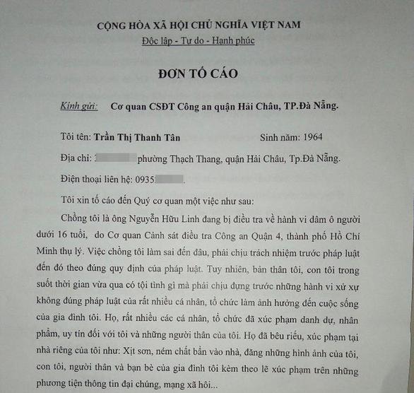 Vợ ông Nguyễn Hữu Linh bất ngờ rút đơn tố cáo bị làm nhục - Ảnh 1.